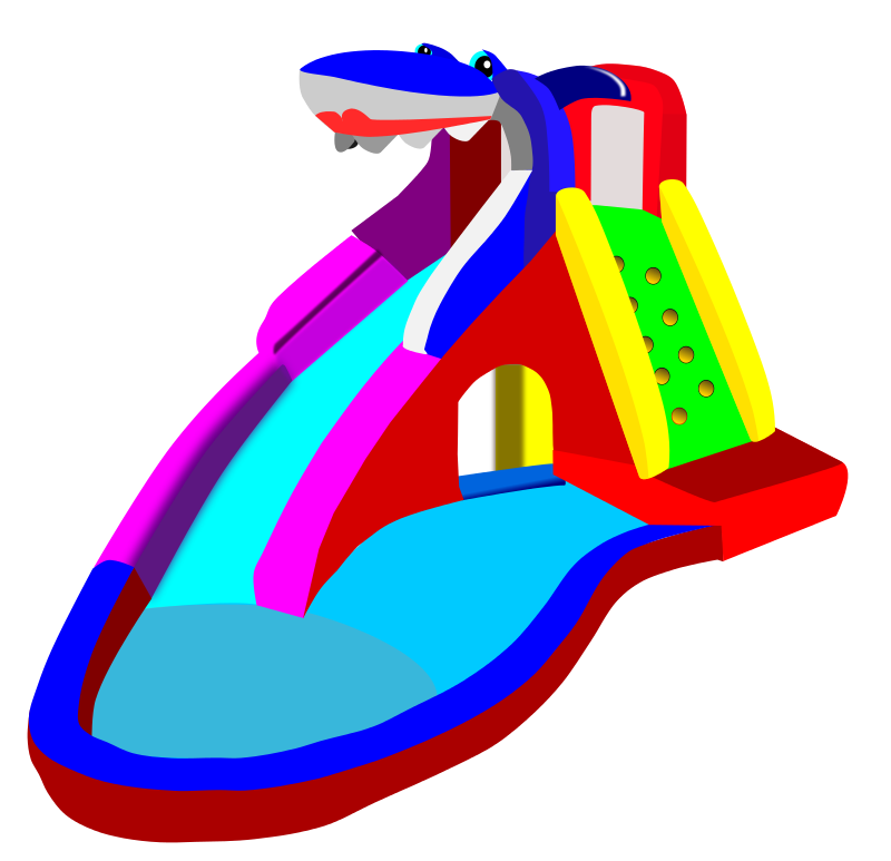 Inflatable water slide clipart free images