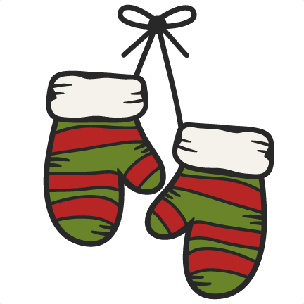 Large hanging mittens clip art clipart