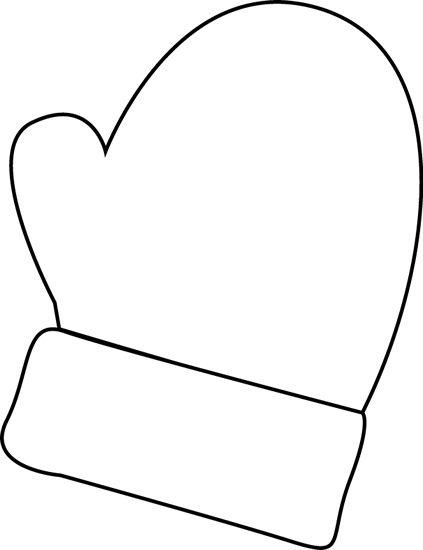 Mittens clip art black and white mitten clipart
