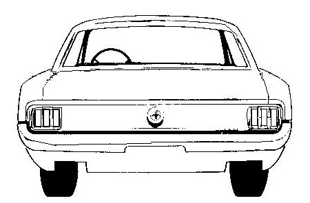 Mustang 6 coupe clipart free images