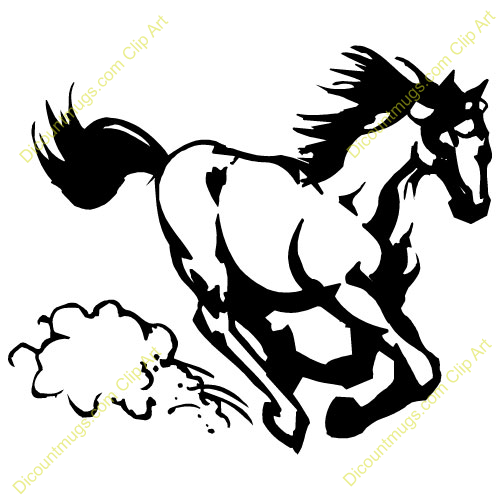 Mustang clip art free clipart images