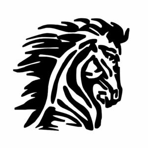 Mustang logo blk clip art at vector clip art