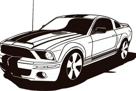 Mustang top ford clip art free clipart image