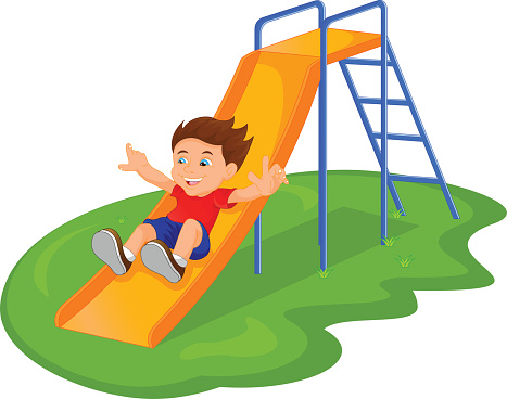 Park clipart playground slide pencil and in color park