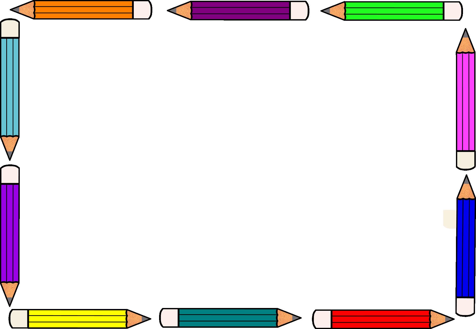 Pencil border pencil frame cliparts free download clip art
