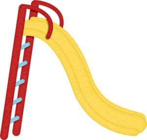 Slide playground images on toys clip art and fun time