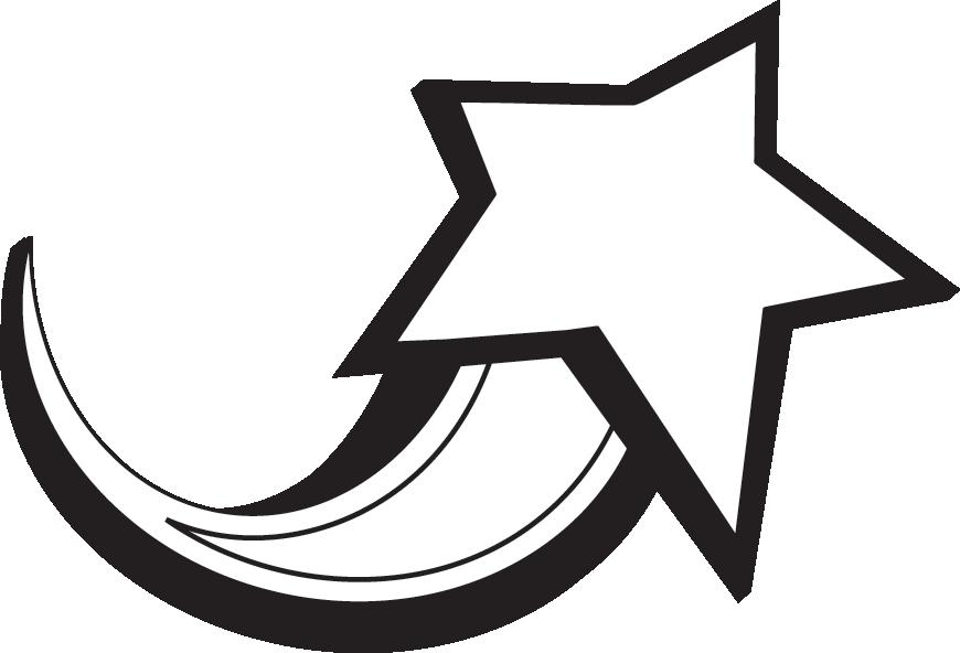Starburst black shooting star clipart clip art image clip