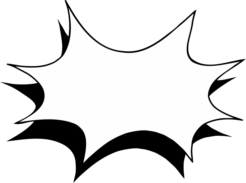 Starburst clip art outline free clipart images 2 2