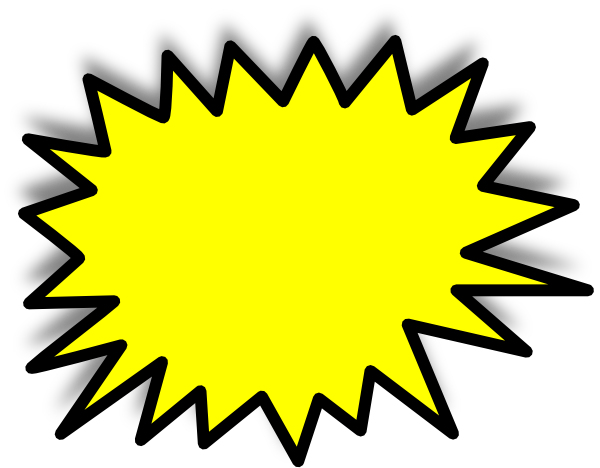 Starburst clip art outline free clipart images 2