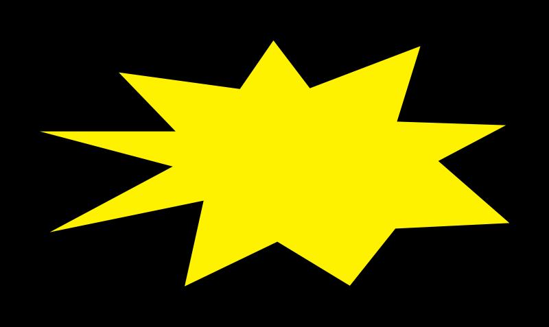 Starburst clipart 2