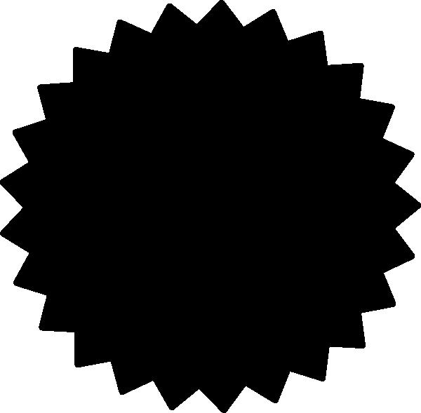 Starburst clipart black and white free