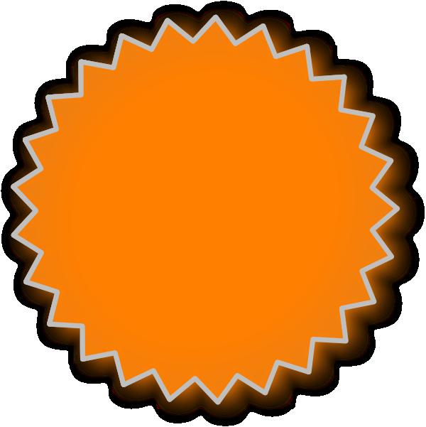 Starburst orange clip art at vector clip art