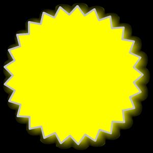 Starburst outline clip art at vector clip art