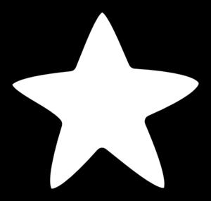 Starburst shooting star clip art black and white free