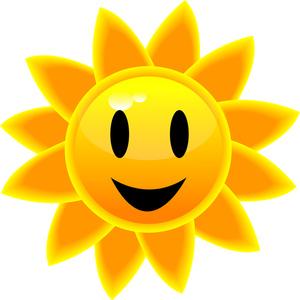Sunny clipart image a bright yellow sun
