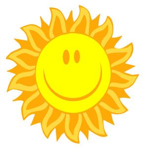 Sunny clipart image clip art a bright happy sun