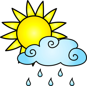 Sunny rain clipart clipartxtras