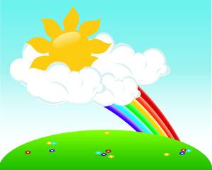 Sunny rainbow clipart clip art gmk rainbows
