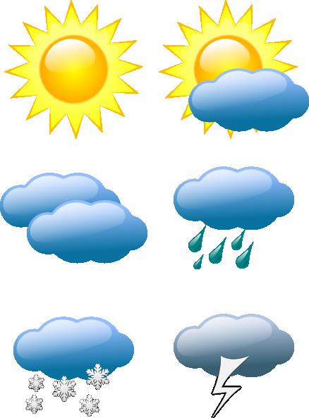 Sunny weather clip art symbols clip art calendar ideas