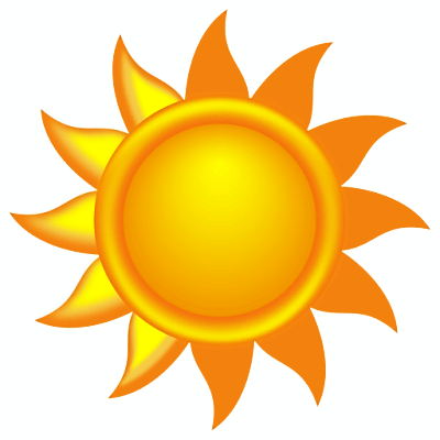 Sunny weather clipart free images