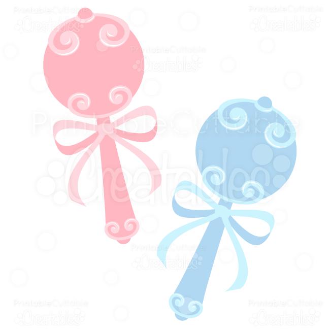 Sweet baby rattles svg cuts clip art
