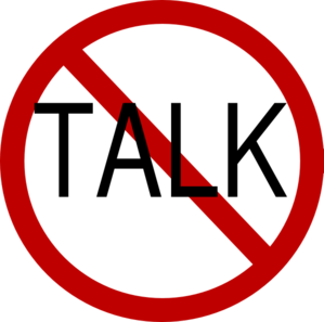 Talking no talk clip art at vector clip art