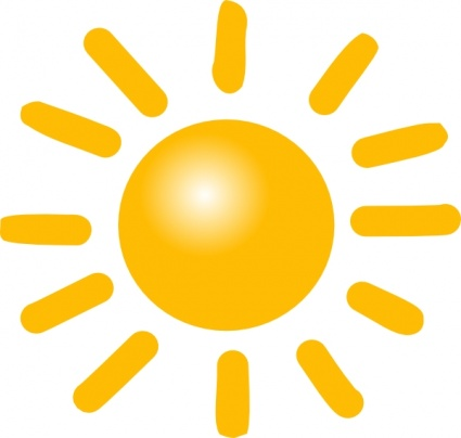 Weather sunny clip art free clipart images