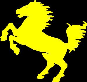 Yellow mustang clip art at vector clip art