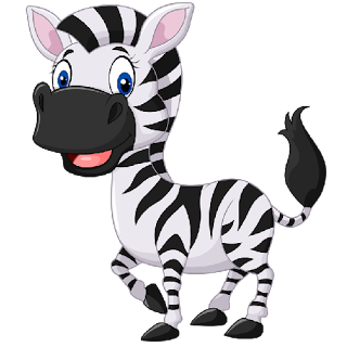 Adorable clipart zebra pencil and in color adorable