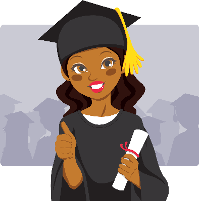African american graduation clipart clipart