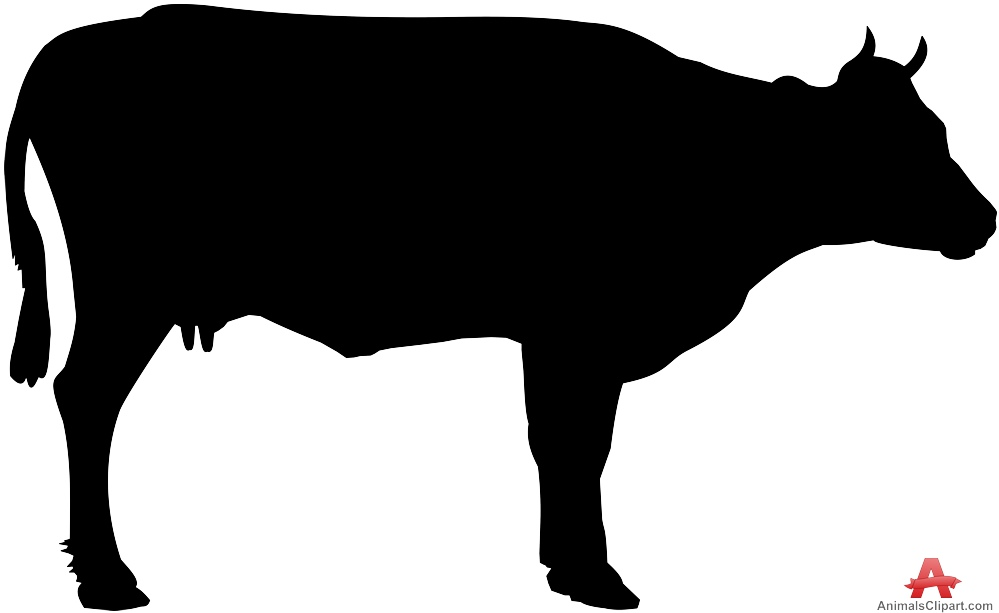 Animal cow clipart black silhouette free design download