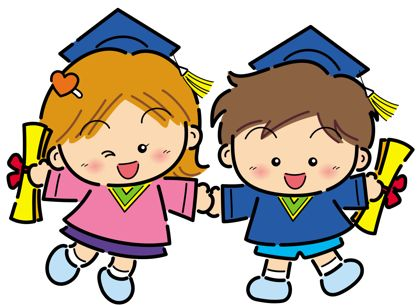 Baby clipart graduation pencil and in color baby