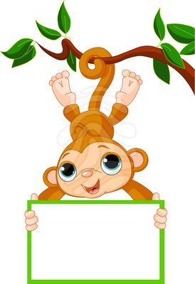 Baby monkey clip art free clipart images 2