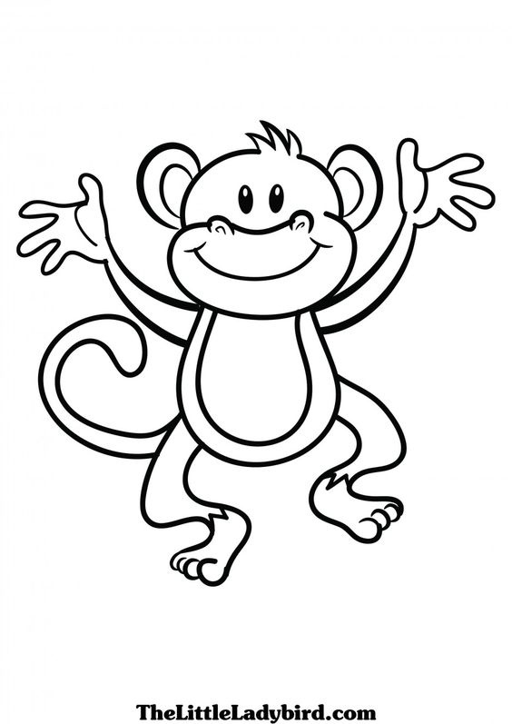 Baby monkey clipart black and white letters example