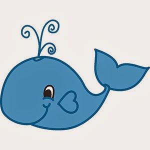 Baby whale blue clip art clipartpost