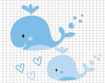 Baby whale clipart 4