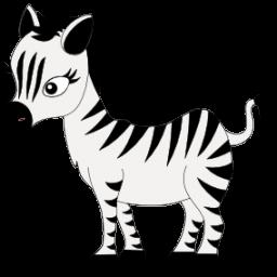 Baby zebra icon clipart image