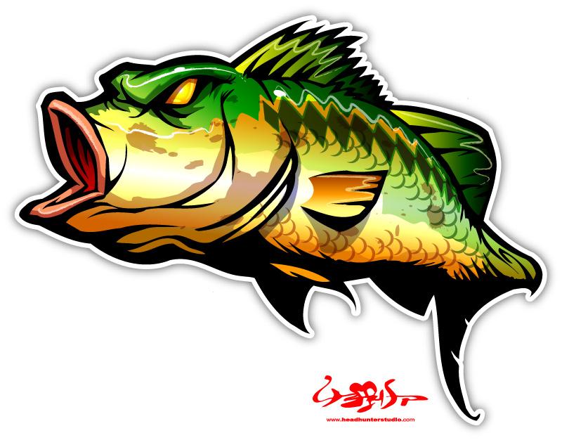 Bass clipart 8