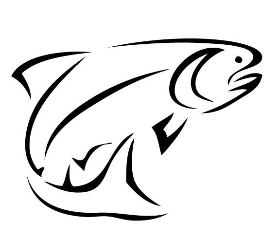 Bass fish outline clip art clipart
