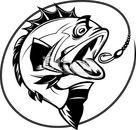 Bass fish vector clipart