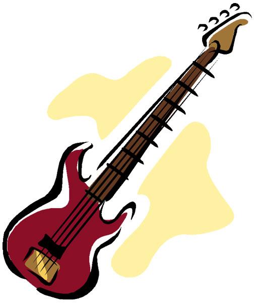 Bass guitar clip art free clipart images