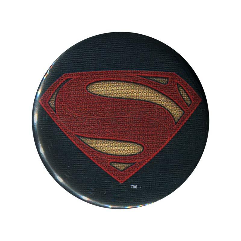 Batman superman logo button