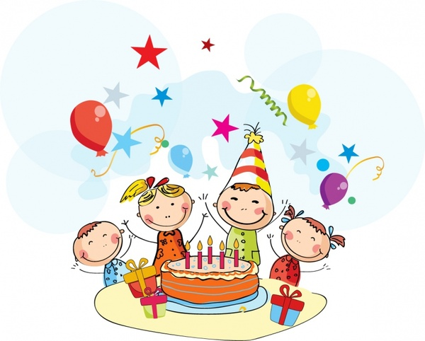 Birthday celebration clipart free vector download 7 free