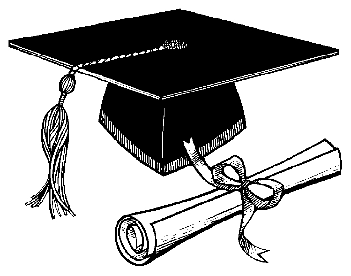 Black and white graduation clip art clip art library
