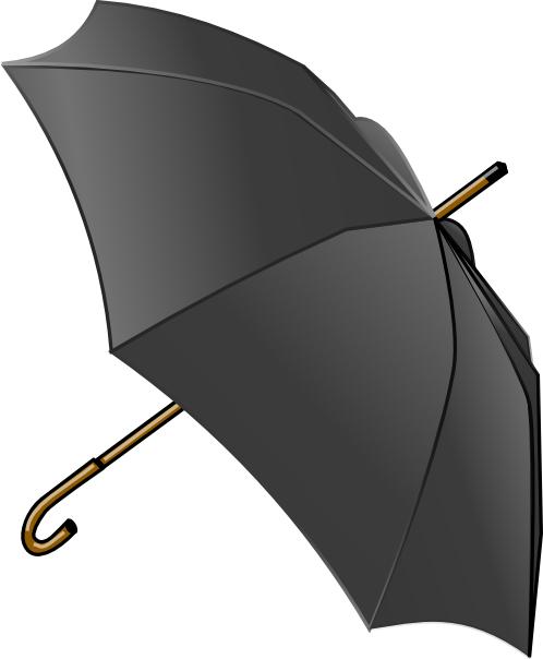 Black umbrella clip art free vector 4vector