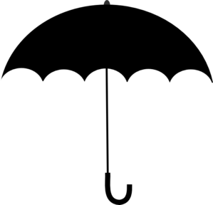 Black white umbrella clip art at vector clip art