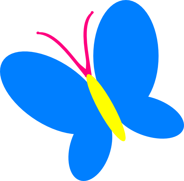 Blue butterfly clip art at vector clip art