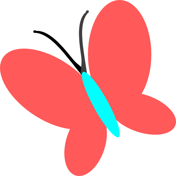 Blue butterfly clipart danaambc top