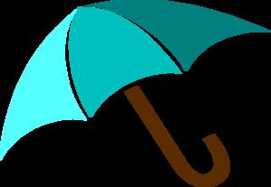 Blue umbrella clip art at vector clip art