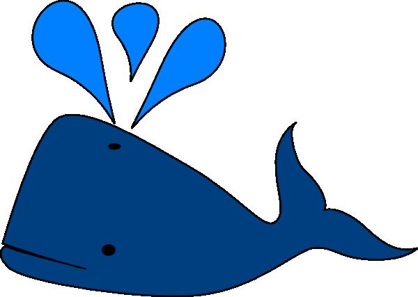 Blue whale clip art at vector clip art